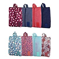 Travel Shoe Bags Waterproof Dustproof Portable Oxford Shoe Bags with Zipper Closure Storage Organizer Bag for Makeup Bathing Clothes
