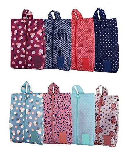 8 Pack Scarpe Borse impermeabile o viaggi sacchetto dell'organizzatore, Scarpe Borse per Viaggiare