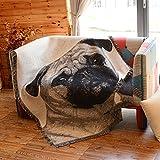 AFAHXX Interessant Sofa Überwürfe,Dekoration Decke zu Werfen Hund Muster Sofabezug für Sofa Das größte Geschenk-A 160x220cm(63x87inch)