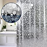 #3: CASA Furnishing PVC Waterproof 3D Shower Curtain with 8 Hooks (54 X 84 in) 7 Feet