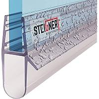 STEIGNER Joint de douche pour paroi en verre, 80cm, vitre 5/6/7/8 mm, joint d'étanchéité droit PVC, UK17