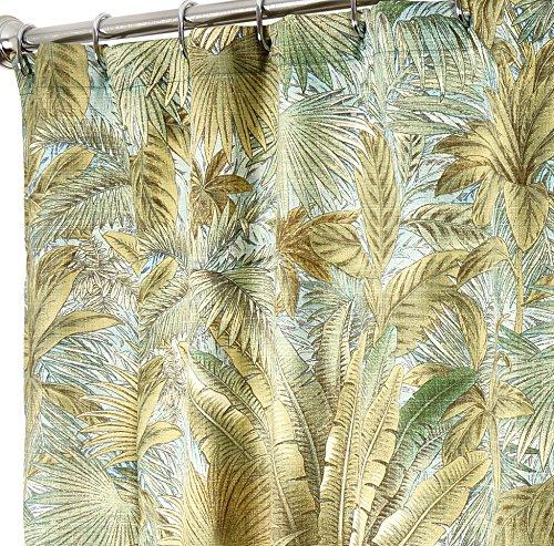 Tropische Dusche Vorhänge Tommy Bahama Stoff grün Bahama-Breeze 182,9cm (Palm-baum-dusche Vorhang Ringe)