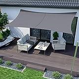 SUNNY GUARD Toldo Vela de Sombra Rectangular 2x2m Impermeable ...