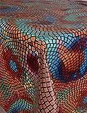 GearUp Wachstuch Tischdecke für Draußen und Drinnen - Wetterfest abwaschbar Pflegeleicht -in Verschiedenen Mustern im Landhaus Stil Farbe Mosaik Größe Rund 140 cm