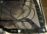 Sandkastenplane 2,0m x 2,0m, randverstärkt, inkl. Gummiseil und Metallösen, Farbe: schwarz