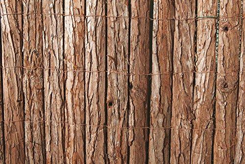 VERDELOOK Arella in Listelli di Corteccia di Pino, Dimensioni 1x3 m, per Decorazioni e recinzioni