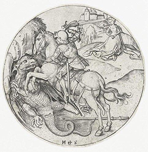 Das Museum Outlet-Der Saint George und der Drache 2. 1470-1490-A3Poster