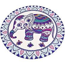 NiSeng Bohemia Toalla Playa Circular De La Impresión De Elefante Cojín De Para Protegerse Del Sol De Chal Meditación Yoga Mat