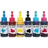 Splashjet Sublimation Ink for Epson Printer L805, L800, L1800, L850 Printers - 6 Colour - (C/M/Y/Bk/LC/LM - 70g x 6…