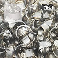 LEGO 25 x Pieces Of Minifigure Visors For Helmets 2447 Job Lot Accessories
