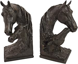 aubaho 2 Buchst/ützen Buchst/änder Pferd Figur Eisen 16cm Antik-Stil