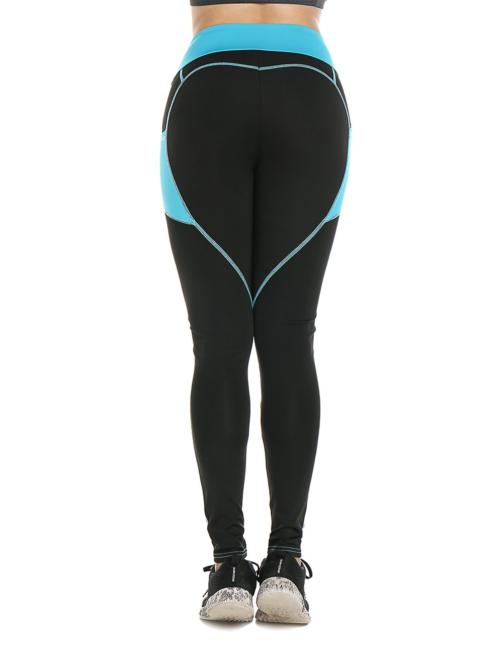 769012bf3d3f92 Women Heart-shaped Power Stretch High Waist Fitness Running Workout Leggings  - UKsportsOutdoors