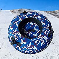 ZHAOK Trineo 80 cm de diámetro Inflatable Snow Tube Snow Tube for Winter Fun Inflatable, for Kids and Adults, Sturdy Sledding Tubes, Easy To Grip Handles,b