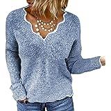 Maglione Donna Felpa Ragazza Sweatshirt Oversize Pullover Invernali Primavera Manica Lunga Casual Moda Scollo a V Tops