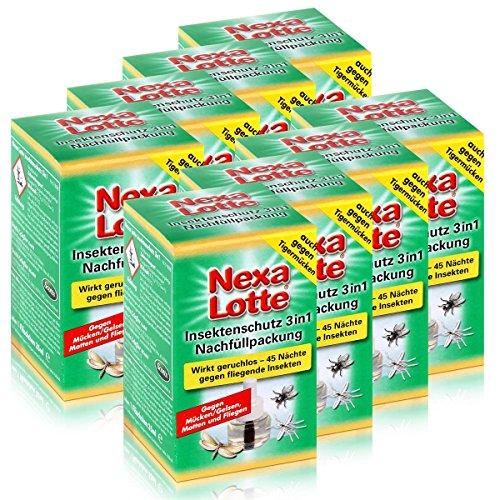 Preisvergleich Produktbild Nexa Lotte Insektenschutz 3in1 Nachfüllpackung - wirkt geruchlos (8er Pack)