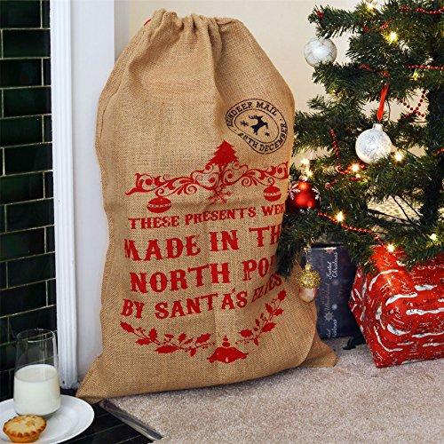 Regali Di Natale Inglese.Nicola Spring Sacco Di Iuta Per Regali Di Natale These