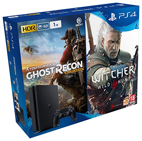 Pack PS4 – PS4 Slim de 1TB + Ghost Recon Wildlands + The Witcher 3
