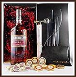 Geschenk Auchentoshan 12 Jahre Whisky + Flaschenportionierer + 10 Edel Schokoladen von DreiMeister & DaJa + 4 Whisky Fudge, kostenloser Versand
