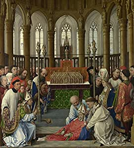 Vitalwalls - The Exhumation of Saint Hubert - By - Rogier van der Weyden and workshop -Premium Canvas Art Print.(Religion-355-30, Canvas Print, 30 cm x 33.3 cm)