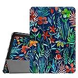 Fintie Hülle für Samsung Galaxy Tab S2 8.0 T710 / T715 / T719 (8 Zoll) Tablet-PC - Ultra Schlank Superleicht Ständer SlimShell Cover Schutzhülle mit Auto Schlaf/Wach Funktion, Dschungelnacht