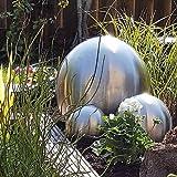 Kugel aus Edelstahl 25 cm matt Dekokugel Dekorationskugel Edelstahlkugel