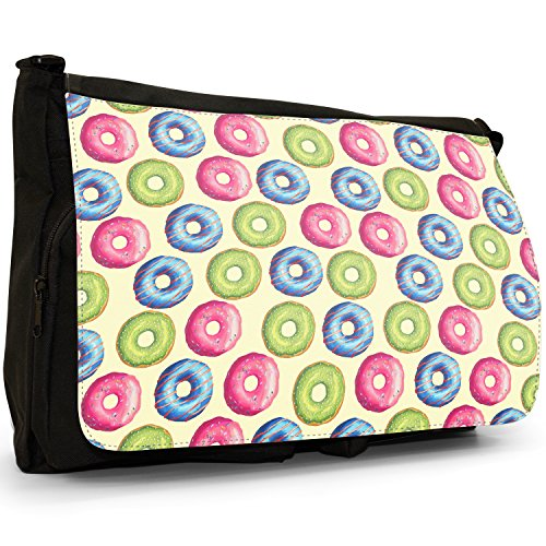 Fancy A Snuggle, Borsa a spalla donna Large Mixed Iced Doughnut Pattern