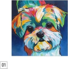 HitTime Love DogPattern DIY 5D Diamond Embroidery Cross Stitch Painting Decor 30 * 30CM