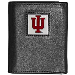 NCAA Indiana Hoosiers Deluxe Leather Tri-fold Wallet