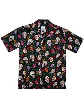 David Carey | Original Camicia Hawaiana | Signori | XS - 6XL | Maniche Corte | Tasca Frontale | Hawaii Stampa...