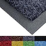 Paillasson Casa Pura antidérapant et absorbant avec bordure en caoutchouc, Polyamide, Classic Dark Grey, 50x85cm