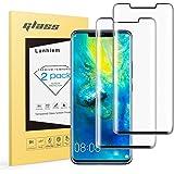Lanhiem Huawei Mate 20 Pro skärmskydd, [2-pack] 3D böjd HD heltäckande härdat glas skärmskydd för Huawei Mate 20 Pro [okrossb