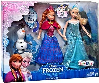 Disney Frozen Anna Y Elsa Muñecas de Magicas Musicales Fijado Y Pequeño Olaf de Jakks