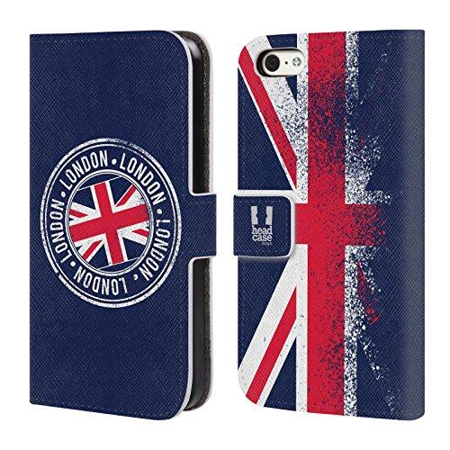 Head Case Designs Reise Das Beste Von London Brieftasche Handyhülle aus Leder für Apple iPhone 6 Plus / 6s Plus Stempel