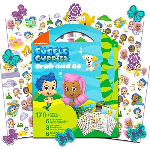 Bubble Guppies Aufkleber zum Ausmalen, Set mit speziellen, separat lizenzierten GWW Belohnungsaufkleber (Party Bubble Supplies Guppy)