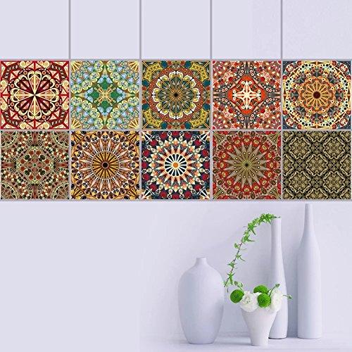 Sunshay Tile Aufkleber 20 St¨¹ck Set Einheiten 7,87 x 7,87 Zoll Badezimmer und K¨¹che DIY abnehmbare Kachel Decals selbstklebende Wand Aufkleber einfach zu sch?len und f¨¹r die Dekoration