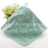 XXIN Trocknet Handtuch Handtuch Jacquard Schneiden Sie EIN Kleines Handtuch Baumwolle Grün 25 * 25.
