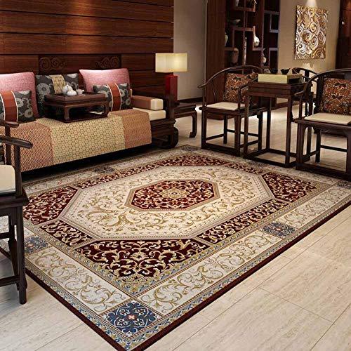 Muma tappeto, cotone e seta miscelazione lavabile retrò multifunzionale salotto tavolino camera da letto (colore : brown, dimensioni : 160 * 230cm)