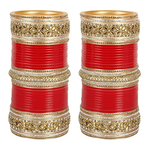 MUCH MORE AMAZING Bridal Chura With Broad kada for Women's