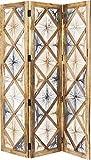 Kare Coachella Natur Paravent, Holz, Braun, 2.5 x 150 x 183 cm