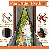 Magnet Fliegengitter Tür Insektenschutz, Fliegen Gitter Türvorhang Magnetic Moskito Netz, Wohnzimmertür, Schiebetür, Ohne Bohren von VOYAGO (110 x 220 cm)