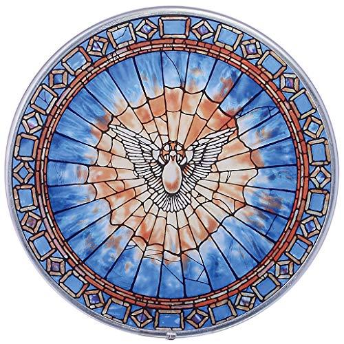 Buntglas-Panel - Der Heilige Geist Runde Buntglas-Fenster Behang - Kunst-Glas-Fensterbehandlungen -