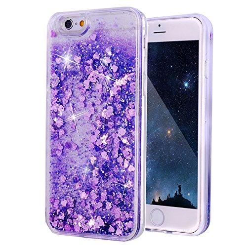 iPhone 6s Hülle, Glitzer Flüssig Transparente Dünn Resistante Protection Schutzhülle Case, Flüssiges Liquid Glitzer Cover für iPhone 6 / 6s (I Phone 6 Case Glitzer-flüssigkeit)