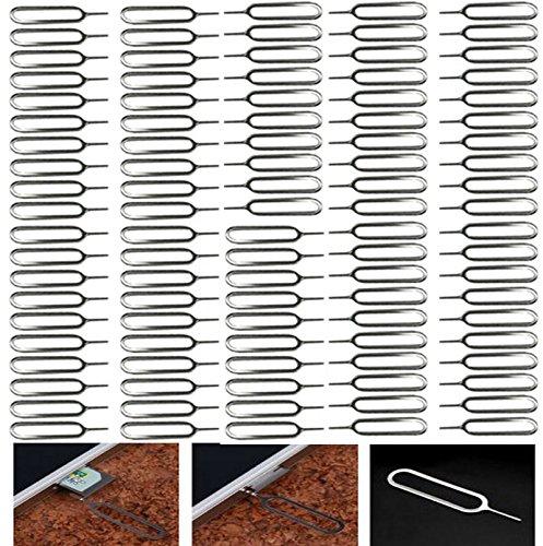 PPdigi Sim Karten Simkarten Nadel(100er Packung) Öffner Entferner Pin Stift Werkzeug für iPhone 4 4S 5 5s 6 6 plus 6s plus 7 iPad air pro mini etc. (Sim-karte Werkzeug Iphone 5)