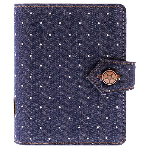 Filofax 27034 Organizer Denim Pocket Dots, Indigo -