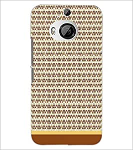 PrintDhaba Owl Pattern D-1650 Back Case Cover for HTC ONE M9 PLUS (Multi-Coloured)