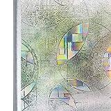 Homein 3D Fensterfolie Selbstklebend Sichtschutzfolie Fensterschutzfolie Dekorfolie Glasaufkleber Statisch Haftend Scheibengardinen ohne Kleber Window Film Winter mit Motiv Farbig Fein Hof 90 x 200 cm