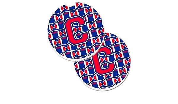 Multicolor Carolines Treasures Letter C Football Harvard Crimson /& Yale Blue Set of 2 Cup Holder Car Coasters CJ1076-CCARC 2.56