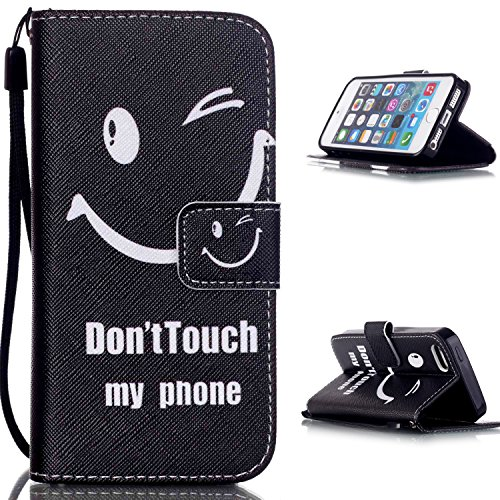 MOONCASE Étui pour iPhone 5 / 5S Printing Series Coque en Cuir Portefeuille Housse de Protection à rabat Case YB10 YB01 #0305