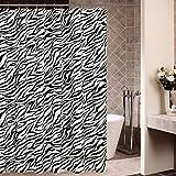 mouldproof 3D Patrón de la cebra / poliéster / impermeable / molde anti / cortina de ducha más gruesa (180 * 180CM / 180 * 200CM) De secado rápido ( Tamaño : 180*200CM )
