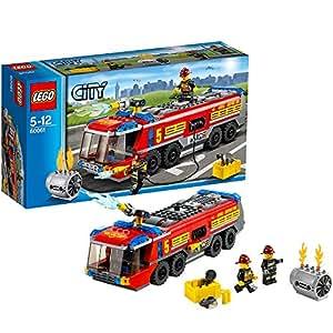 LEGO City - 60061 - Jeu De Construction - Le Camion De Pompiers De L'aéroport